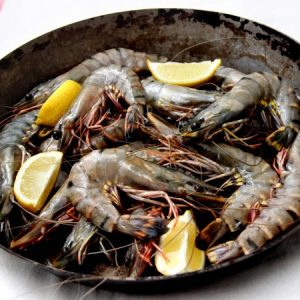 Black Tiger Prawns – 1KG (size 21-25)