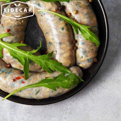 Sidecar Handcarfted Mediterranean Parmesan and Rocket Sausages